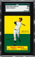 Baseball Cards:Singles (1960-1969), 1964 Topps Stand-Up Mickey Mantle SGC 96 Mint 9 - Pop two, None Higher....