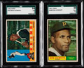 Baseball Cards:Lots, 1960 & 1961 Topps Roberto Clemente SGC Graded Pair (2).. ...