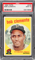 Baseball Cards:Singles (1950-1959), 1959 Topps Roberto Clemente #478 PSA Mint 9 - None Higher. ...