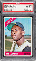 Baseball Cards:Singles (1960-1969), 1966 Topps Roberto Clemente #300 PSA Mint 9 - None Higher....