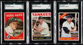 Baseball Cards:Lots, 1959-66 Topps Mickey Mantle SGC Graded Trio (3).. ...