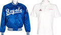 Movie/TV Memorabilia:Costumes, A Frank Sinatra Set of Sports-Related Clothing, Circa 1980s.... (Total: 2 )