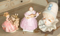 Ceramics & Porcelain, Continental:Other , Three Various Porcelain Figures. 9-1/4 inches high (23.5 cm)(tallest, boy clown). ... (Total: 3 Items)