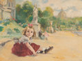 Paintings, Fried Pal (Hungarian/American, 1893-1976). Seated Child. Oil on canvas. 29-1/2 x 39 inches (74.9 x 99 cm) (sight). Signe...