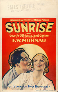 "Sunrise (Fox, 1927). Window Card (14"" X 22"")"