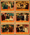 "Movie Posters:Drama, Dark Victory (Warner Brothers, 1939). Linen Finish Lobby Cards (6)(11"" X 14"").. ... (Total: 6 Items)"