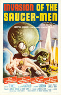 "Movie Posters:Science Fiction, Invasion of the Saucer-Men (American International, 1957). OneSheet (27"" X 41"") Albert Kallis Artwork.. ..."