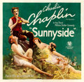 "Movie Posters:Comedy, Sunnyside (First National, 1919). Six Sheet (80.75"" X 77.75"").. ..."