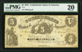 Confederate Notes:1861 Issues, T11 $5 1861 PF-1 Cr. 42.. ...