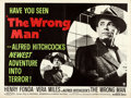 "Movie Posters:Hitchcock, The Wrong Man (Warner Brothers, 1957). British Quad (30"" X 40"").. ..."