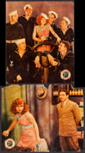 """Movie Posters:Comedy, True to the Navy (Paramount, 1930). Linen Finish Jumbo Lobby Cards(2) (14"""" X 17""""). Comedy.. ... (Total: 2 Items)"""