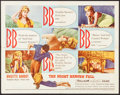 """Movie Posters:Foreign, The Night Heaven Fell (Kingsley International, 1958). Half Sheet (22"""" X 28""""). Foreign.. ..."""