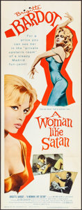 "Movie Posters:Bad Girl, A Woman Like Satan (Lopert, 1959). Insert (14"" X 36""). Bad Girl....."