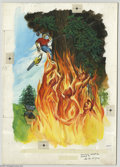 Original Comic Art:Covers, Western Publishing Artist - The Twilight Zone #30 Cover OriginalArt (Gold Key, 1969). The fire raging through the forest wa... (1 )
