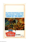 "Movie Posters:War, Attack on the Iron Coast (United Artists, 1968). Window Card (14"" X22""). Lloyd Bridges and Andrew Keir head Operation Mad D... (1 )"