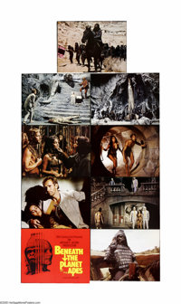 "Beneath the Planet of the Apes (20th Century Fox, 1970). Lobby Card Set of 9 (11"" X 14""). Offered here is an o..."