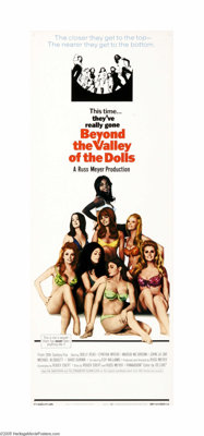 "Beyond the Valley of the Dolls (Twentieth Century Fox, 1970). Insert (14"" X 36""). ""This is my happening a..."