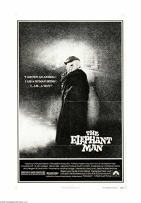 """The Elephant Man (Paramount, 1980). One Sheet (27"""" X 41""""). Offered here is an original poster for this dramati..."""