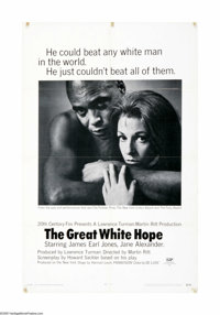 """The Great White Hope (20th Century Fox, 1970). One Sheet (27"""" X 41""""). Offered here is an original poster for t..."""