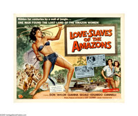 "Love-Slaves of the Amazons (Universal International, 1957). Half Sheet (22"" X 28""). Offered here is an origina..."