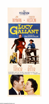 """Lucy Gallant (Paramount, 1955). Insert (14"""" X 36""""). Offered here is an original poster for this drama starring..."""