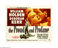 "Movie Posters:War, The Proud and Profane (Paramount, 1956). Half Sheet (22"" X 28"").Offered here is an original poster for this war drama direc... (1 )"