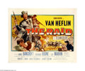 """Movie Posters:War, The Raid (20th Century Fox, 1954). Half Sheet (22"""" X 28""""). Offeredhere is an original poster for this Civil War drama starr... (1 )"""
