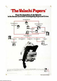 """The Valachi Papers (Columbia, 1972). One Sheet (27"""" X 41""""). Offered here is an original poster for this crime..."""