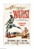"""Movie Posters:Adventure, Watusi (MGM, 1959). One Sheet (27"""" X 41""""). Offered here is anoriginal poster for this adventure starring George Montgomery,...(1 )"""