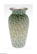 Art Glass:Daum, An American Art Glass Vase Durand, c. 1920 The 'Egyptian crackle' baluster form vase in a ground of translucent irides...