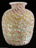 Art Glass:Other , An American Art Glass Vase Durand, c.1920 The ovoid vase withwaisted neck with 'Moorish Crackle' finish over a ground ...
