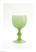 Art Glass:Other , An American Art Glass Goblet Steuben, c.1920 The knobbed stemgoblet in green jade, unsigned 5.2in. high Jason Ellm... (1 )