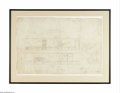 Decorative Prints, American:Prints, AStanford White L.C.Tiffany DrawingNew York, c.1 The historicallysignificant architectural drawing for Louis Comfort Tif... (1 )