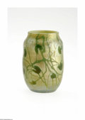 Art Glass:Tiffany , An American Art Glass Vase Tiffany Studios, c.1900 The Favrilefree-form cabinet vase in an iridescent gold ground with ...