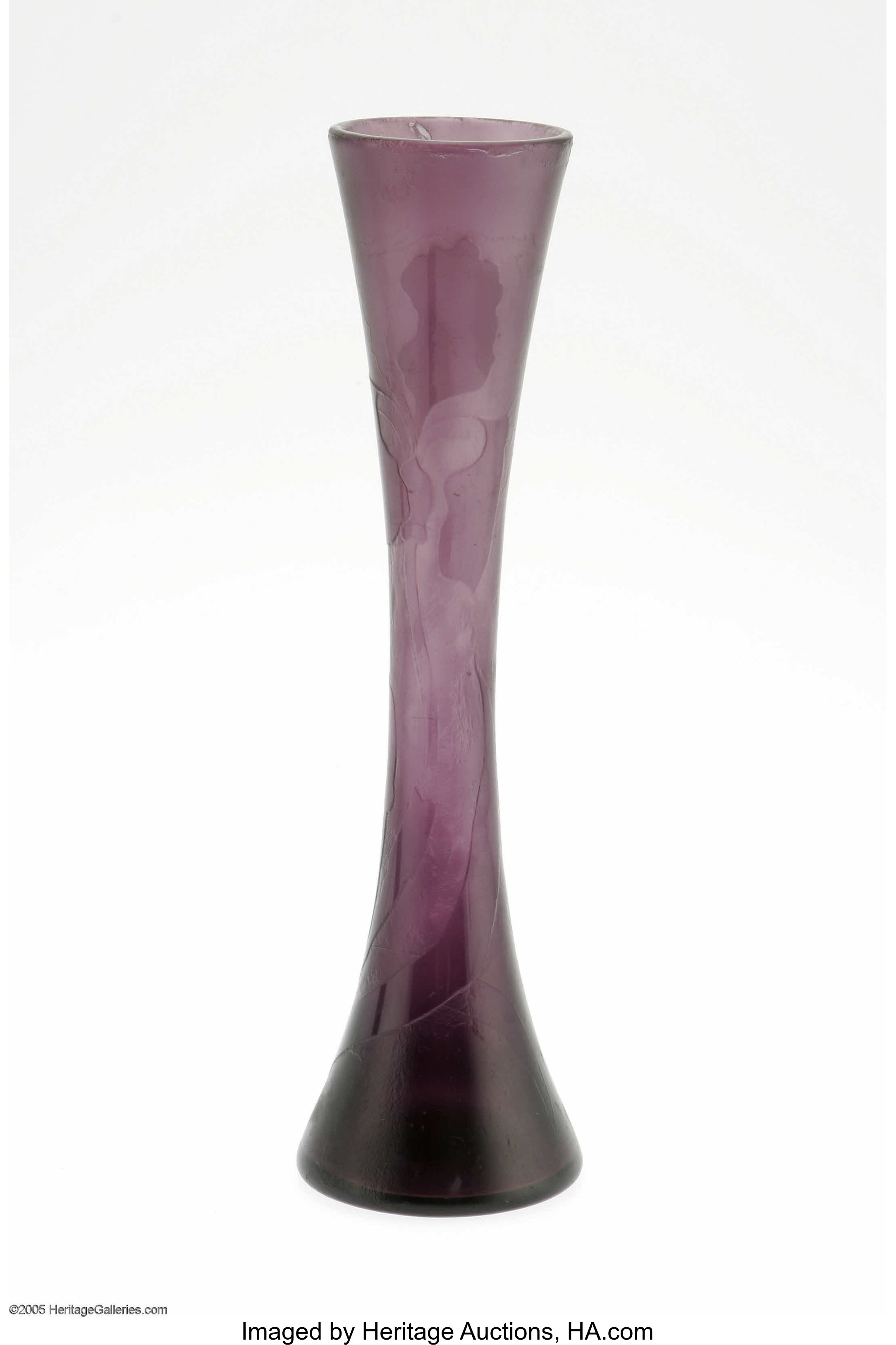 A French Overlaid And Etched Glass Vase Emile Galle, c.1900 The ...