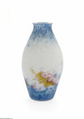 Art Glass:Muller, A French Etched Art Glass Vase Muller Fres, Twentieth Century Theinternally-decorated vase in mottled blue to white to ...