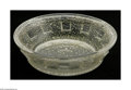 Art Glass:Daum, A French Art Glass Bowl Daum Nancy, c.1900 The thick acid-cut lowwide bowl decorated with gold inclusions to the interi...