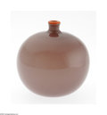 Art Glass:Daum, A French Art Glass Vase Daum Nancy, c.1900 The globular vase in opaque mauve with a narrow neck rimmed in bright orange,...