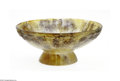 Art Glass:Other , A French Pate-De-Verre bowl G. Argy Rousseau, c.1920 The footed lowflaring bowl in a mottled ground of brown and yellow...