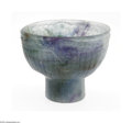 Art Glass:Other , A French Art Glass Bowl François Decorchemont, c.1920 Thecylindrical Pate de vVerre footed bowl decorated in mottled gr...