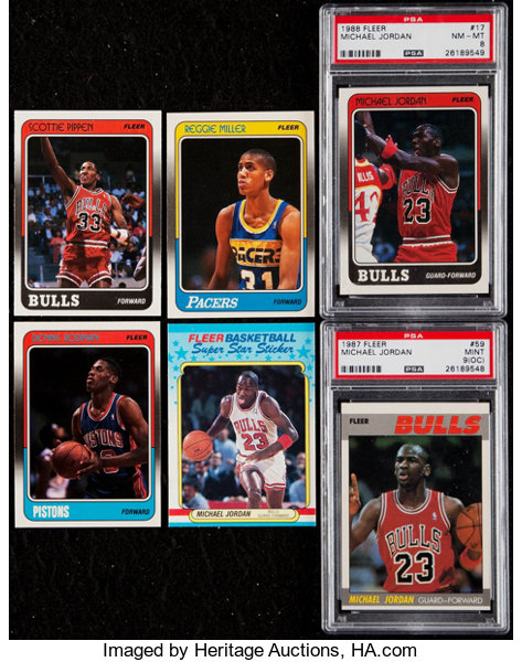 4837974ed08 1988 Fleer Basketball Cards   Stickers Complete Set
