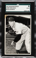 Baseball Cards:Singles (1950-1959), 1952 Bowman Black & White Prototype Harry Brecheen (#176) SGCAuthentic....