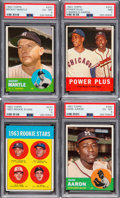 Baseball Cards:Sets, 1963 Topps Baseball Near Set (568/576). ...