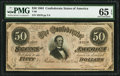 Confederate Notes:1864 Issues, T66 $50 1864 PF-15 Cr. 503.. ...