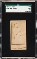 Boxing Cards:General, 1888 N332 S. F. Hess William Sheriff SGC 45 VG+ 3.5 - The Only SGCand PSA Graded Example! ...