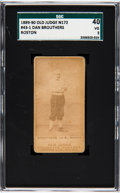 Baseball Cards:Singles (Pre-1930), 1887-90 N172 Old Judge Dan Brouthers (#43-1) SGC 40 VG 3. ...