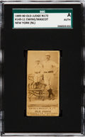 Baseball Cards:Singles (Pre-1930), 1887-90 N172 Old Judge Buck Ewing & Mascot (#149-11) SGCAuthentic. ...