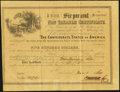 Confederate Notes:Group Lots, Ball 364 Cr. 153 $500 1864 Six Per Cent Non Taxable Certificate.....