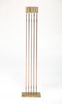 Val Bertoia (American, b. 1949) B-2097, 2017 Beryllium-copper rods silvered to brass 51-1/2 inche