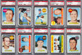 Baseball Cards:Lots, 1969 Topps Baseball PSA GEM MT 10 Collection (10). ...